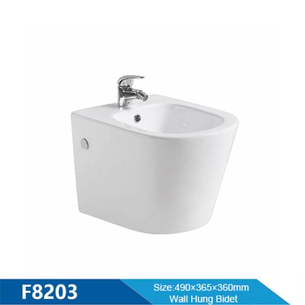 Nuevo estilo de color blanco bidé de baño bidé de cerámica bidé de inodoro suspendido al por mayor en el mercado europeo para mujeres