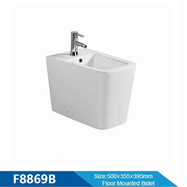 High Quality floor mounted bidet wholesale rectangular women bidet nozzle toilet for hotel