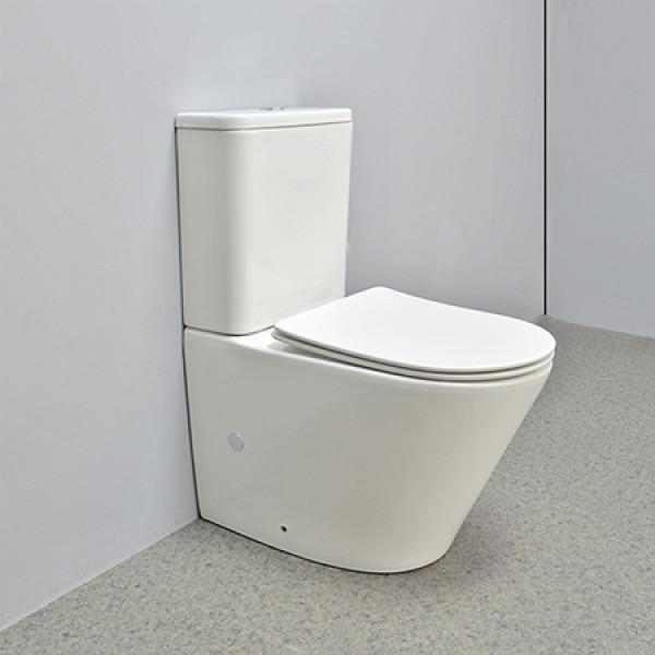 Inodoro con ahorro de agua estándar de Australia, inodoro de cerámica de diseño moderno, inodoro de nuevo a la pared, inodoro sin borde, inodoros de dos piezas