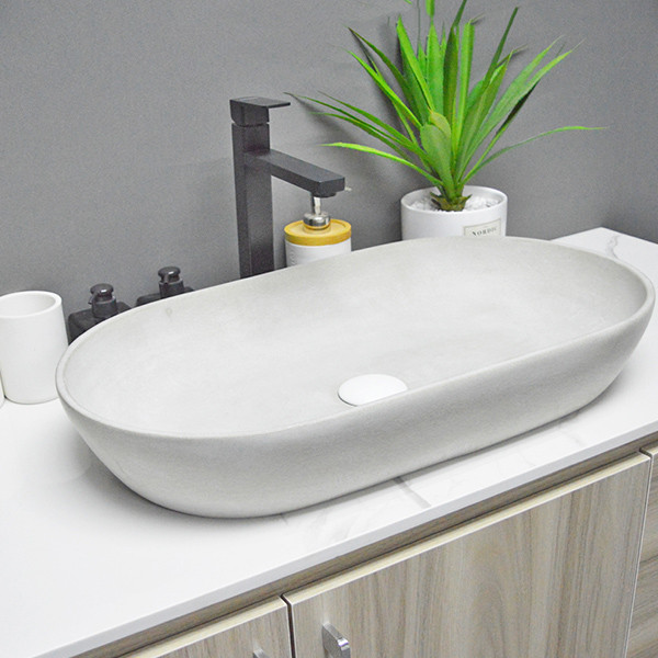 Lavabo sanitario de hormigón de cemento para baño fabricado en China
