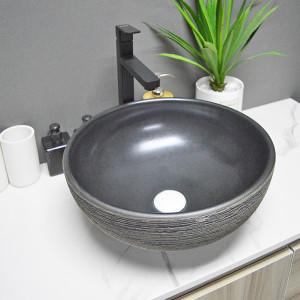 Lavabos de cerámica al por mayor con lavabo de encimera certificado para uso hotelero
