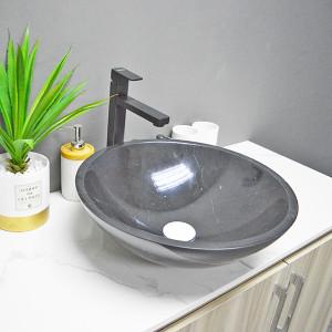 lavabo de encimera de mármol de piedra natural hecho en China precio barato para hotel
