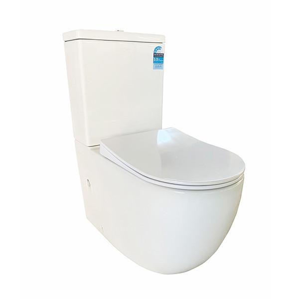 WC-Wasserzeichenzertifikate für zweiteilige randlose Toiletten an der Wand