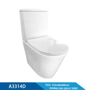 China stellt keramische zweiteilige Toiletten-WC billige Sanitärkeramik für Hotel her