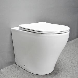 Inodoro montado en el piso de la cisterna oculta de la marca de agua del inodoro del tornado del esmalte nano al por mayor