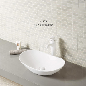 Ship type sink ceramic multi color countertop design wash basin in bathroom