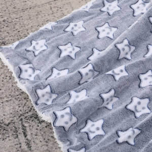 Мягкое и идеальное для кожи вязаное детское одеяло из искусственного меха Fancy Stars оптом