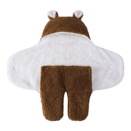 Mantas tejidas reciclables recién nacidas lindas del swaddle de la felpa del saco de dormir del bebé del OEM del OEM
