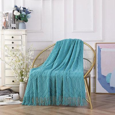 Manta decorativa tejida al por mayor de la cubierta del sofá del tiro del sofá suave sólido con textura