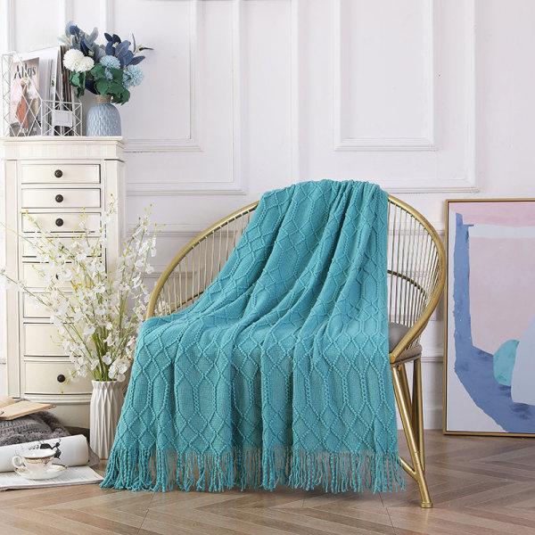 Оптовая торговля текстурированной твердой мягкой софой накидка на диван вязаное декоративное одеяло