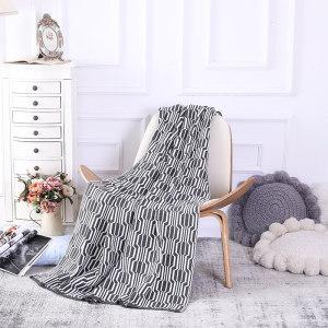 ODM Rivet Geometric Lantern Jacquard Reversible Knit Throw Blanket Wholesale