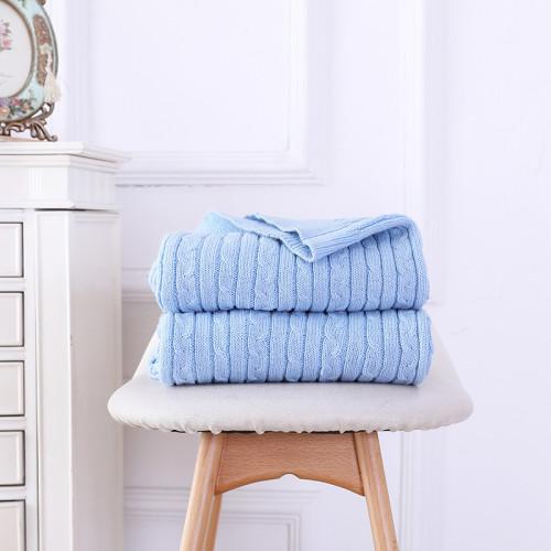Venta al por mayor 100% algodón manta de tiro de punto de cable súper suave del proveedor chino