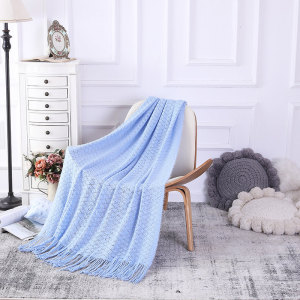 ODM Throw Blanket With Tassels Wholesale Soft Sofa Couch Cover Decoration Knitted Blanket