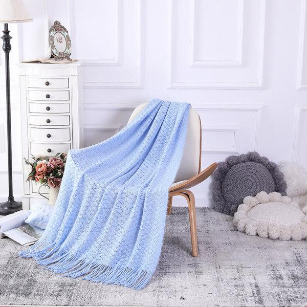 Одеяло ODM с кисточками, оптовая продажа, мягкий чехол для дивана, украшение, вязаное одеяло