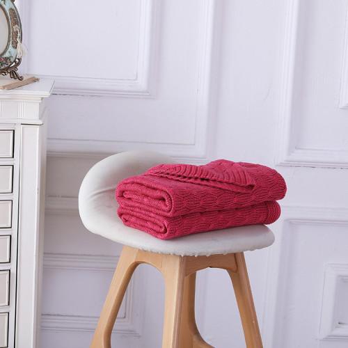 Estilo ligero del suéter del punto del cable de la venta al por mayor de la manta del tiro del punto del OEM