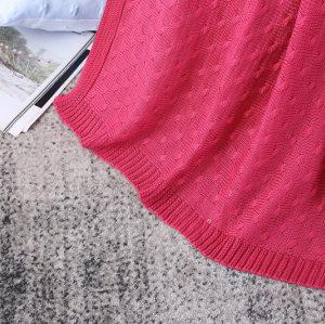 OEM Knit Throw Одеяло Оптовая торговля легким кабельным трикотажным свитером в стиле