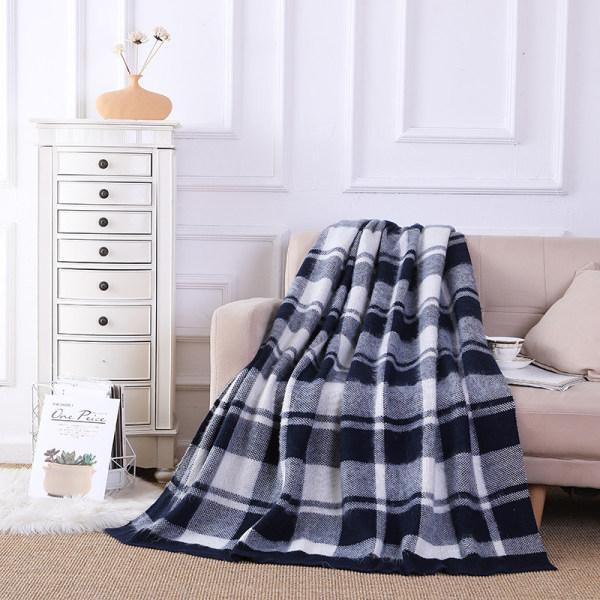 Оптовое двустороннее вязаное одеяло из кашемира с китайской фабрики