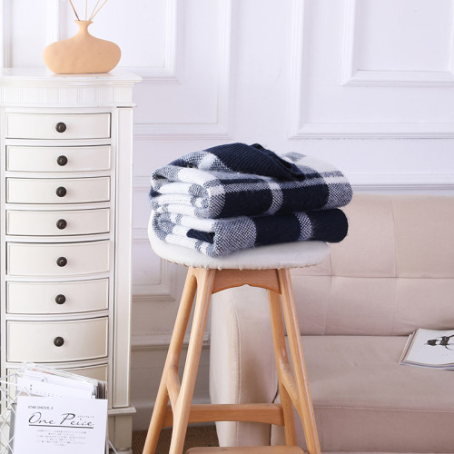 Wholesale Cashmere Reversible Knit Throw Blanket From  Chinese Factory