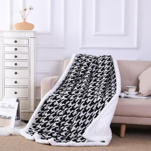 ODM Chunky Knit Throw Blanket Wholesale Cozy Warm Soft Black And White