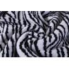 Manta de punto grueso de Sherpa con rayas de cebra superior al por mayor