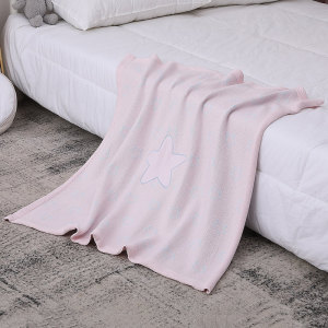 Wholesale Knitted Baby Blanket Recyclable Swaddle Wrap Warm Stroller Blankets