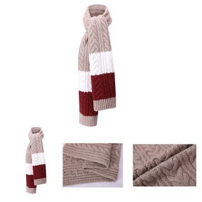 OEM женская мода длинные шали оптом против пиллинга толстый вязаный шарф