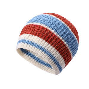 OEM ladies knitted stripe wholesale anti-pilling hats