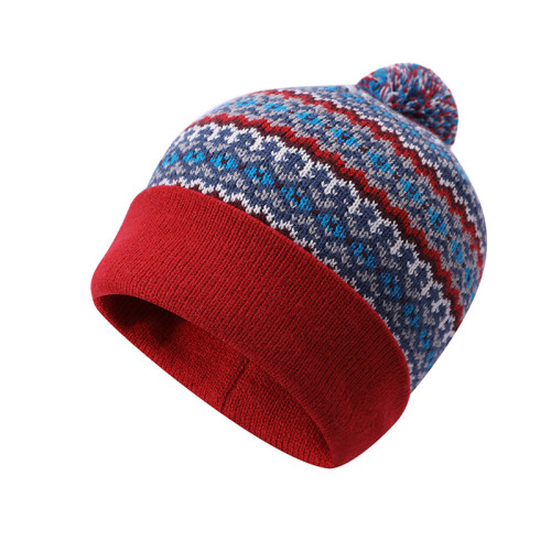 Chapeaux anti-boulochage en gros jacquard tricoté par dames OEM