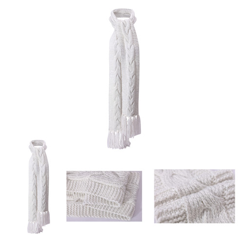 OEM Оптовый анти-пиллинг легкий узор вязания шарфа с люрексом