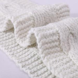 Modelo que hace punto de la bufanda fácil anti-pilling al por mayor del OEM con lurex