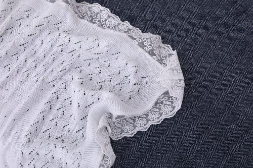 Manta de punto fácil reciclable recién nacida al por mayor del bebé con el cordón del proveedor chino