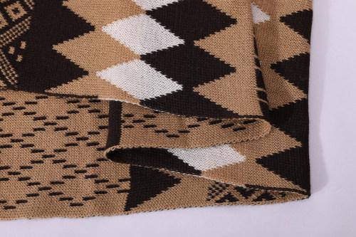 OEM двойной вязаный шарф с рисунком оптовой переработки теплый шарф