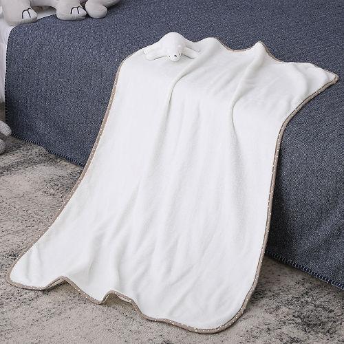 Bebé hecho punto al por mayor Lovey, osos del peluche del acurrucamiento reciclable de la manta del bebé