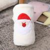 Manta de bebé reciclable al por mayor de punto súper suave bordada con patrón de Papá Noel.