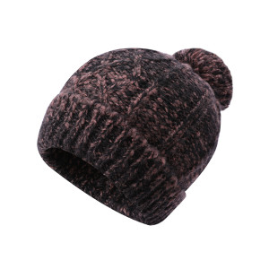 OEM ladies knitted cable wholesale anti-pilling hats with pom pom