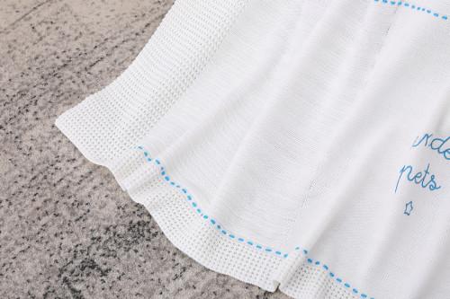 Одеяла для малышей Органические вязаные детские одеяла с милым рисунком для мальчиков и девочек