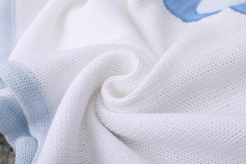 Manta de bebé de punto orgánica suave y perfecta para la piel al por mayor para niños y niñas