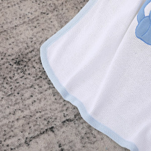 Органическое мягкое и идеальное для кожи вязаное детское одеяло оптом для мальчиков и девочек