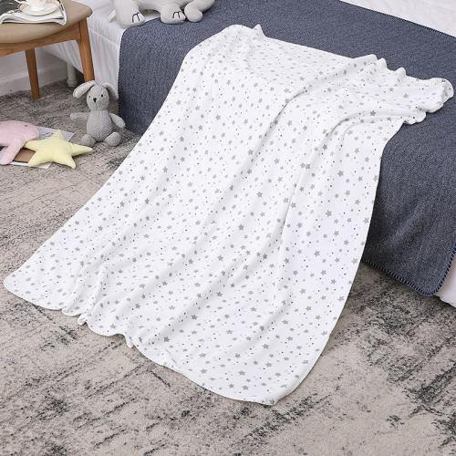 Couverture tricotée pour bébé en gros couvertures recyclables pour tout-petits Couverture en tricot nouveau-né pour garçons et filles