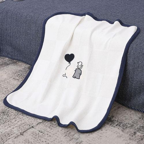 Manta orgánica hecha punto ultra suave al por mayor del bebé, manta envolvente de recepción respirable