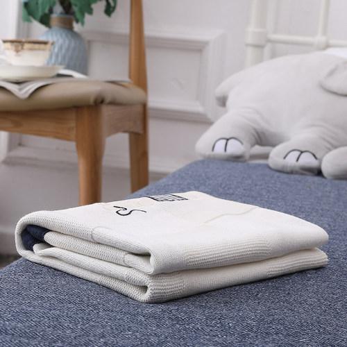 Оптовое Ультрамягкое трикотажное органическое детское одеяло, дышащее пеленальное одеяло