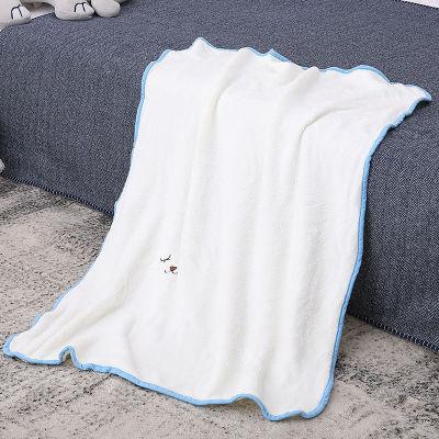 Manta de bebé de punto reciclable de vellón de franela blanca al por mayor para niñas y niños