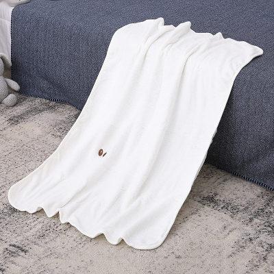 Venta al por mayor de punto bebé Recyclabel manta suave Minky Swaddle Reversible Unisex infantil recién nacido regalo