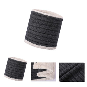 OEM wholesale Warm Fleece Lined Scarf recycle mens knitted scarf