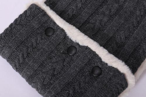 OEM оптовый теплый шарф на флисовой подкладке рециркулирует мужской вязаный шарф