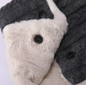 La bufanda forrada polar caliente al por mayor del OEM recicla la bufanda hecha punto para hombre
