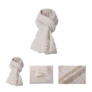 OEM cable knit scarf pattern wholesale anti-pilling scarf