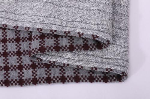 Patrones de bufanda de tejido al por mayor OEM para principiantes con acrílico anti-pilling