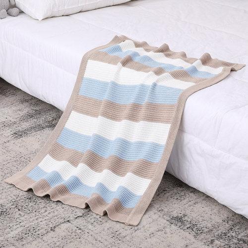 Manta orgánica tejida para bebé Swaddle Wrap Cálidas mantas de cochecito al por mayor para recién nacidos o bebés
