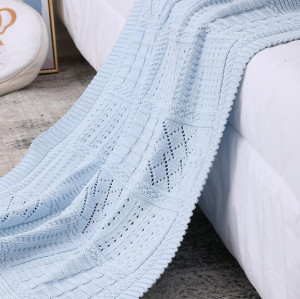 Вязаное детское одеяло с запахом для пеленания, теплые оптовые одеяла для коляски для новорожденных или младенцев